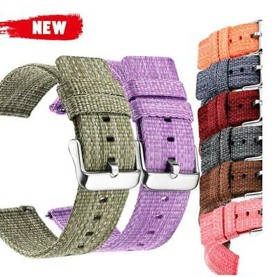 New Thickening Nylon Canvas Watch Band Multicolor Wristwatch Straps Personality