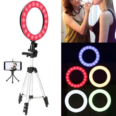 10Inch Dimmable LED Selfie Ring Fill Light with Stand Kit For Video Live Makeup