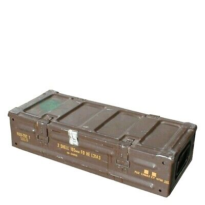 MILITARY SURPLUS L31A3 - 2 Shells 105mm Ammo Box