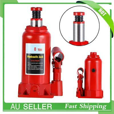 Portable Top Quality Red Hydraulic Bottle Jack Car Truck Caravan SUV 4WD 8 Ton