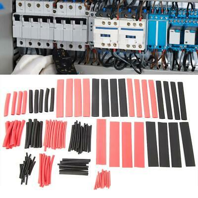 150Pcs Red&Black Sleeving Wire Wrap Kit Heat Shrink Tubing Tube Cable Ratio 2:1