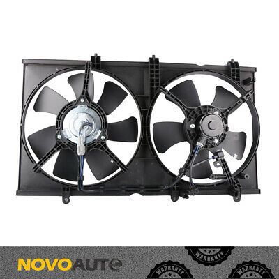 Dual A//C Radiator Cooling Fan Assembly w// Motor for 03-07 Mitsubishi Lancer