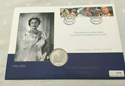 2002 Mercury Coin Cover In Memoriam Queen Mother Isle Man 1 Crown Horses FDC213