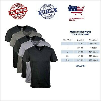5 Pack Mens V/Crew Neck 100% Cotton Tagless T-Shirt Undershirt Tee Assorted S-XL