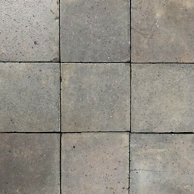1 SqM of Reclaimed Victorian Staffordshire Blue Black 6x6 Inch Quarry Tiles