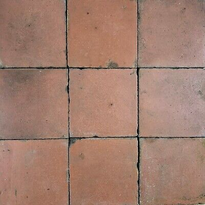 1 SqM of Reclaimed Victorian Red 6x6 Inch Quarry Tiles