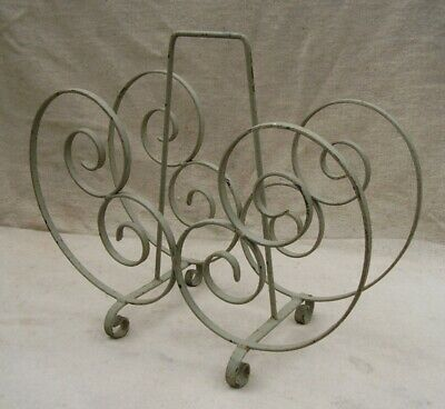 vintage french wrought iron magazine rack