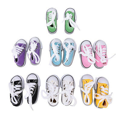 7.5cm Canvas Shoes Doll Toy Mini Doll Shoes for 16 Inch Sharon doll Boots ^F