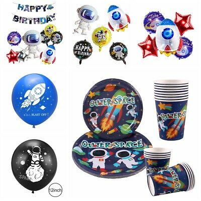 Boy's Birthday Outer Space Astronaut Party Supply Balloon Hanging Decoration