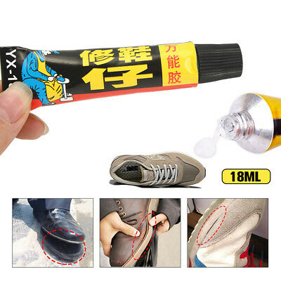 Super Adhesive Repair Adhesive for Shoe Leather Rubber Canvas Tube 18ml New