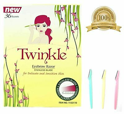 36 Pieces Twinkle (NOT Tinkle) Eyebrow Shaver Razor Bikini Trimmer Shaper Sensit
