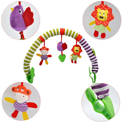 Baby Travel Play Arch Stroller/Crib Toy Pram Activity with Rattle/Squeak/Teether