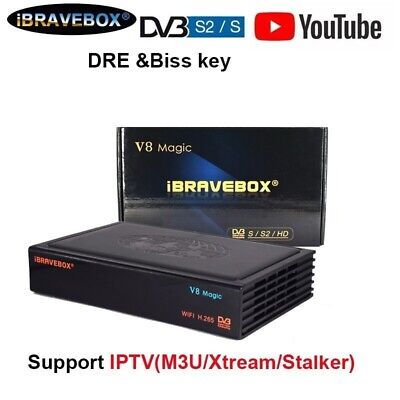 Ibravebox V8 Magic DVB-S2 WIFI Satelite TV Receiver Built Wifi Full HD IPTV