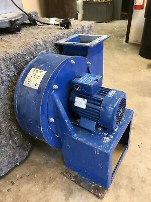 Extraction motor Square Outlet 130mm Round Outlet 190mm Dia 1.1kw Motor 2800rpm