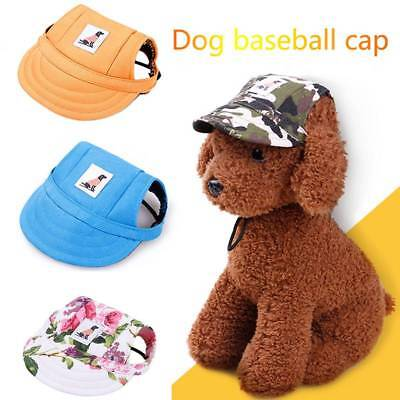 Cute Pet Dog Hat Baseball Hat Summer Canvas Cap For Pet Dog Outdoor Accessories