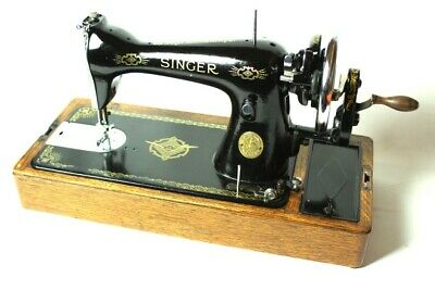 Vintage Singer 15k Hand Crank Sewing Machine c1939 [5366]