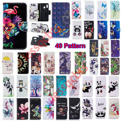 For Huawei P Smart Y5 Y6 Y7 2018 2019 Luxury PU Leather Wallet Case Phone Cover