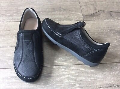 ef3314932ee87 LADIES ECCO BLACK Leather Slip-On Shoes Size Eu 35, Uk 2.5-3 Vgc ...