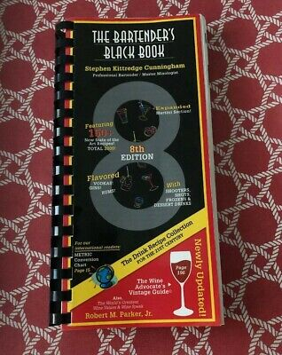 The Bartenders Black Book 8th Edition Bar Pub Cocktail Drink Recipes Used Book