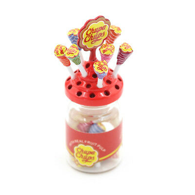 1:12 Dollhouse Miniature Simulation Food Mini Lollipop With Case Holder VU
