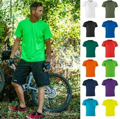 Mens Ladies Breathable Sports T Shirt Aircool Performance Fitness Running Top