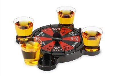Drinking Game for Adults, Roulette, 4 Shot Glasses Included, Party Games, Booze
