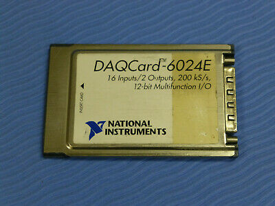 National Instruments DAQCard-6024E NI DAQ Card PCMCIA Analog Input Multifunction