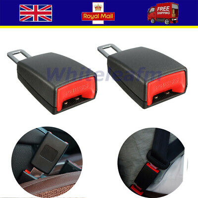 2X Universal Car Safety Seat Belt Buckle Extender Extension Buckle Lock Clips