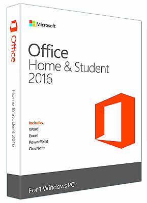 RETAIL Office 2016 Home & Student Key (download from official website)
