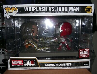 Funko Pop! Marvel #361 Whiplash Vs. Iron Man Movie Moment (MCC Exclusive)