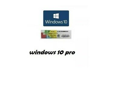 Microsoft Windows 10 Pro Professional Genuine COA Sticker License