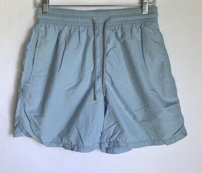 81fb529a36 Vilebrequin Moorea Solid Swim Shorts Chicoree Light Blue L Large French  Trunks