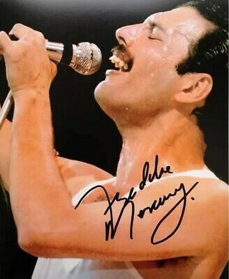Freddie Mercury Queen Vintage Autographed Signed 8x11 Glossy Photo Reprint RP
