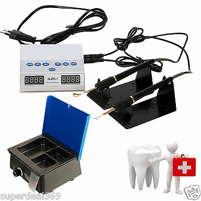 Dental Lab Electric Wax Carving Double Pen Tips + Analog Waxer Dipping Pot P7*C