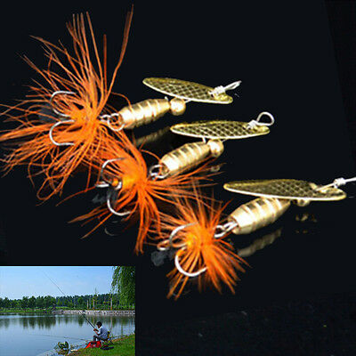 5.5g Fishing Lure Spoon Bait ideal for Bass Trout Perch pike rotating Fishing Ec
