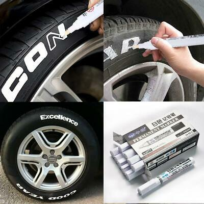 10PCS White Tyre Paint Marker Pens Set Permanent Pen for Car Motorcycle Tire NEW