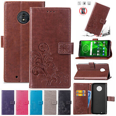 For Motorola Moto G7 Case G6 Plus Play 2018 Magnetic Leather Card Holder Cover