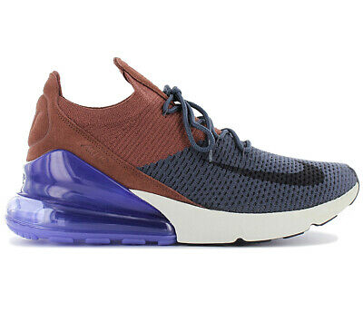 HOMMES NIKE AIR Max 270 Flyknit Platine Pur Baskets AO1023