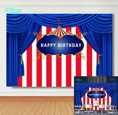 7X5FT RED CIRCUS Tent Photography Backdrop Birthday Party
