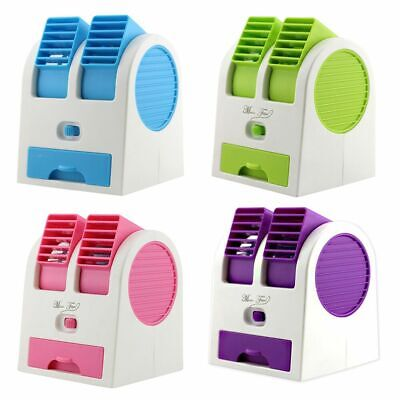 Portable Mini USB Air Conditioner Fan & Air Cooler & Humidifier Desk Home Office