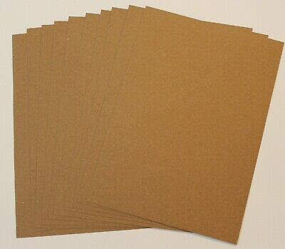 BRAND NEW - 10 Sheets Kraft A5 Cardstock 220gsm Craft Brown Card Making