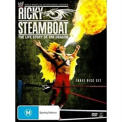 WWE Ricky Steamboat The Life Story of the Dragon 3 DVD Set ( Brand New )( Fast