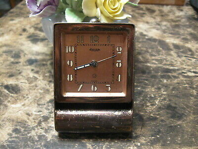 Vintage  Jaeger  Lecoultre  2 Day  Travel  Alarm  Clock