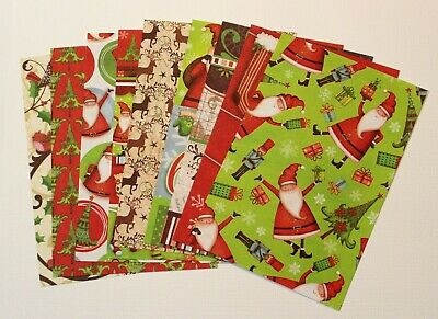 """9 Sheets A6 Christmas Craft Paper Card Making Scrapbooking 10 x 15cm / 6 x 4"""""""
