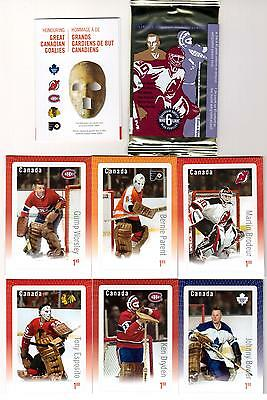 2015 Canada Post Stamp Set of 6 Goalies *NEW SEALED* Ken Dryden Martin Brodeur +