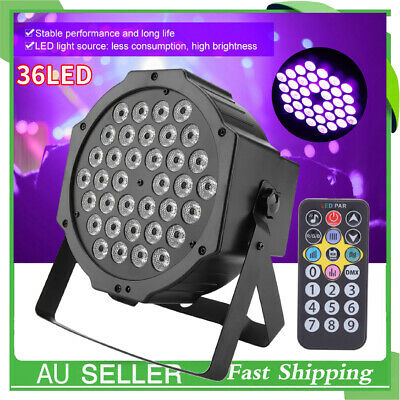 36LED DMX512 UV Stage Light DJ Disco Party Club Bar Lighting W/Remote Control