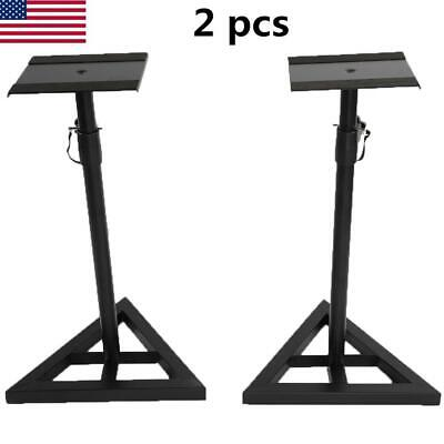 1 Pair Studio Monitor Speaker Stand Height Adjustable Concert Band Heavy Duty US