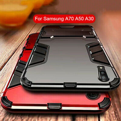 For Samsung Galaxy A70 A50 A30 A10 Case Heavy Duty Hybrid TPU Bumper Stand Cover