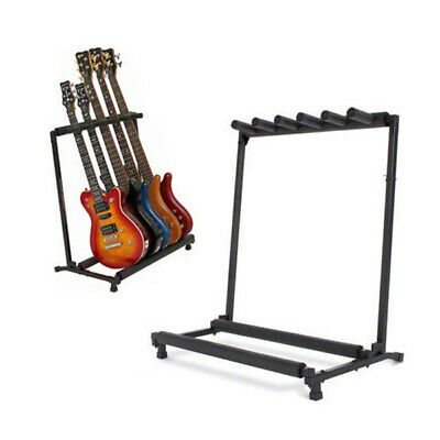 Metal Padded Foam Stylish Guitar Stand Fits 5 Guitars Tidy Storage Display Rack