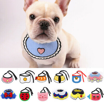Adjustable Puppy Pet Dog Cat Bibs Bandana Scarf Collar Neckerchief Saliva Towel